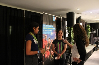 m!Media & Kidzworld interviewing super teens at We Day Vancouver