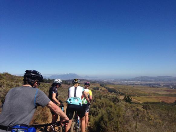 Overlooking the vineyards of Stellenboch