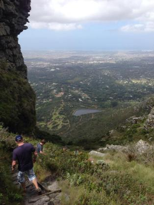 Hiking down Table Mountian