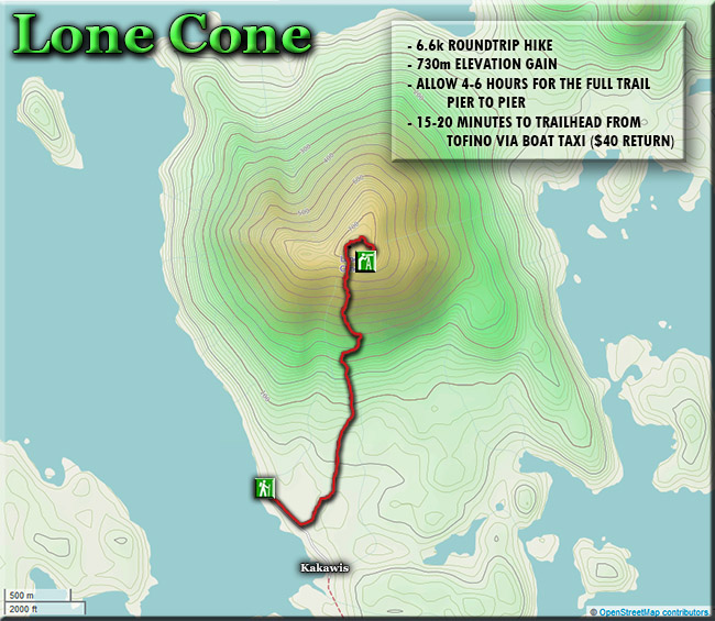 lone cone hiking trail map