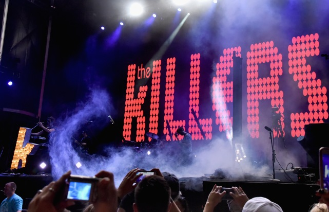 LAS VEGAS, NV - SEPTEMBER 27: The Killers perform onstage during day 3 of the 2015 Life Is Beautiful Festival on September 27, 2015 in Las Vegas, Nevada. (Photo by Jeff Kravitz/FilmMagic)